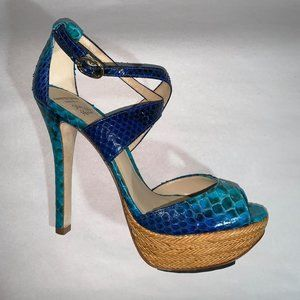 NWOT Alexandre Birman Python Leather Heels 7.5